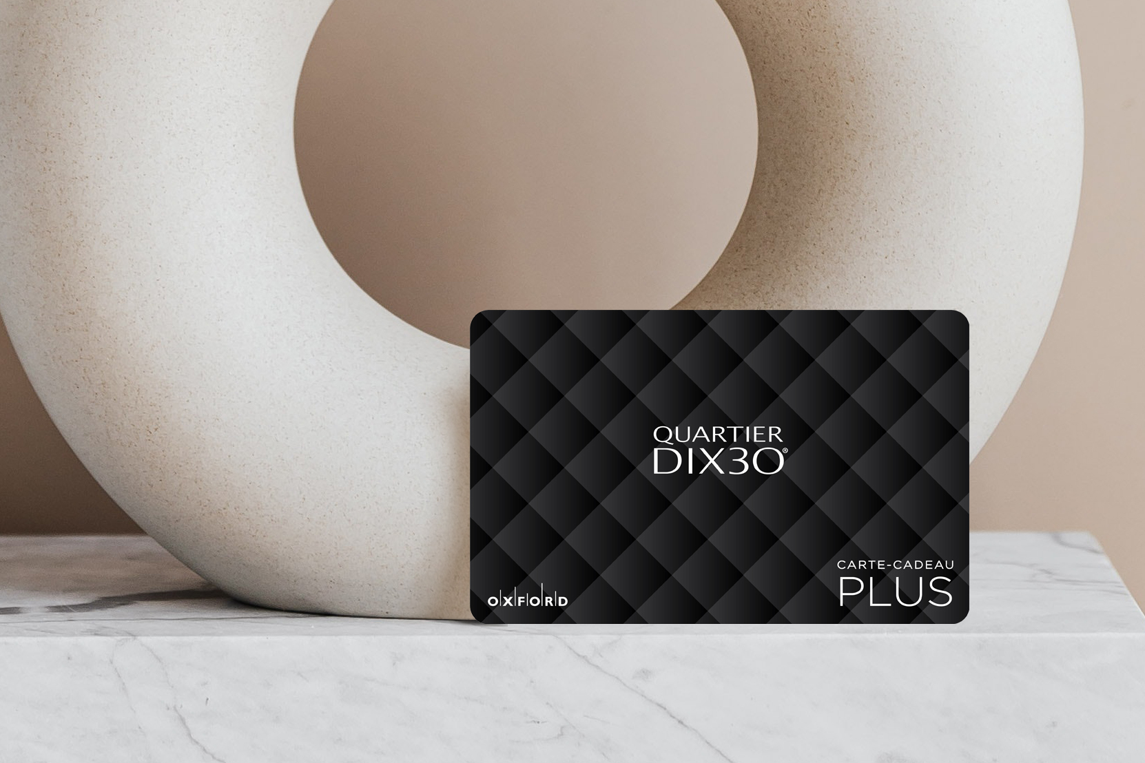 DIX30 gift card and vase